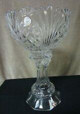 Large Crystal Vase w/pedestal & bowl 24% lead crystal Poland Crystal Clear