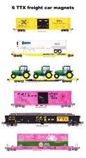 TTX, Trailer Train, Rail Box, Rail Gon 6 magnets Andy Fletcher