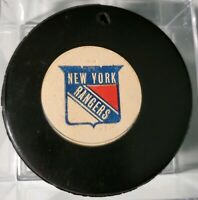 Hole! NEW YORK RANGERS APPROVED NHL VICEROY MFG. CO OFFICIAL GAME PUCK VINTAGE