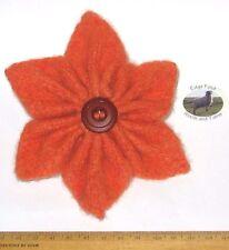 13cm Corsage Brooch Orange star flower 100% Wool felt hippy boho unusual Gift