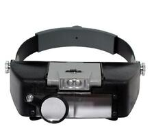 Headband 10X Magnifier Head Magnifying Glass Lens Loupe with LED Light for Handc