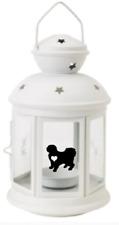More details for tibetan terrier dog gifts lantern tea candle white dog birthday, christmas