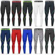 New Mens Compression Pants Tights Workout Base Layers Rugby Skins Fitness Take 5