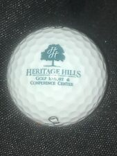 Heritage Hills Golf Resort Golf Ball w/ Logo for Display Cabinet Callaway 1