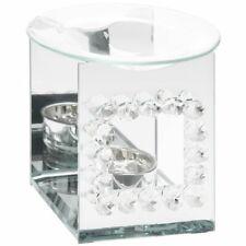 Beautiful Mirrored Diamante Crystal Deco T-Light Oil or Wax Melt Burner Home Art