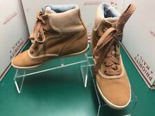 Keds Size 7.5 Brown/Tan Suede Topkick Wool Hi-Top Sneaker Booties Lace-Up