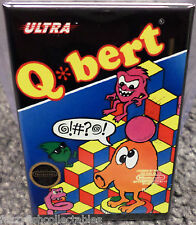 "Q Bert Vintage Game Box  2""x3"" Fridge Locker MAGNET Nintendo Qbert"