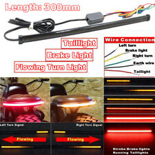 Motorcycle Flowing Switchback Sequential Tail Brake Turn Strip Lights Lamps 1 Pc