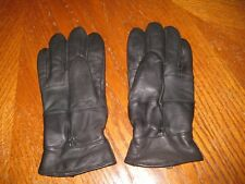 Black Leather Women's Dress Gloves - 40g THINSULATE Insulation 100% Leather L/XL