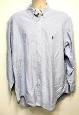 Ralph Lauren Classic Fit Blue & White Stripe Dress Shirt w/ Pony 17 1/2 - 34/35