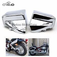 Battery Side Cover Metal for Honda Shadow Spirit VT750DC 00-09 Black Widow 00-07