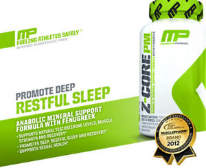 MusclePharm Z-Core PM 60 Caps Zma Sleep Recovery Test Support