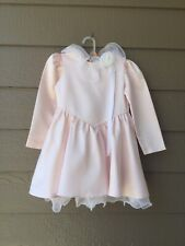 Isabella little girls dress light pink satin, size 6