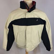 Vintage 90s Reversible Nautica Sailing Windbreaker Coat Jacket Color Block Hood