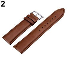 Unisex Fashion PU Leather Watch Strap Band Replacement Wristband Black/Brown Hot