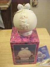 """Precious Moment Ornament & Stand 1992 """"But the Greatest of These Is Love"""" Enesco"""