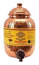 Hammered Copper Water Dispenser Container Pot Matka,Storage Water,Kitchenware