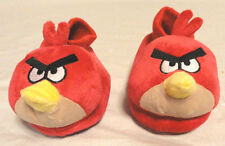 ANGRY BIRDS RED PLUSH SLIPPERS W/ SOCK TOPS TODDLER BOYS, SIZE MED 7/8, NEW