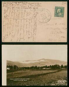 Mayfairstamps Montana 1908 Missoula Real Photo Postcard Ater Rain RPO Cancel wwp
