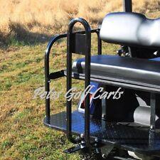 Golf Cart Rear Seat Safety Grab Bar AND Trailer Hitch Set Club Car Ezgo Yamaha