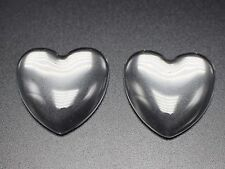 10 Transparent Clear Love Heart Dome Flatback Glass Cabochon 34mm