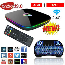2020 Q-Box Plus Quad Core TV Box 4GB+64GB Android 9.0 HD Smart Media Player IPTV