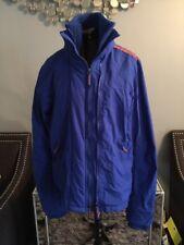 Superdry Japan Women's Zip  Blue Black Label Windbreaker Jacket Small 6-8 Rain