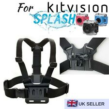 Body Chest Strap Harness Mount Holder for Kitvision Splash Edge HD10 Action Cam