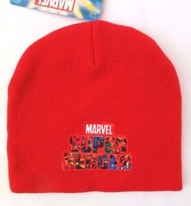 Marvel Super Heroes Avengers Assemble Boy's Character Red  Beanie Hat 54 Cm NWT