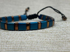 Handmade Adult Men Natural Hematite Bracelet UK| Boho Style 1st Class Postage