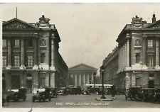 Carte PARIS La rue Royale Autos et autocar