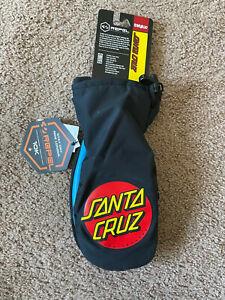 ThirtyTwo Santa Cruz Mitt Snowboarding Gloves Black/Blue L/XL New Screaming Hand