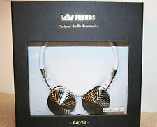 FRENDS LAYLA HEADPHONES Black & Silver star pattern New in Box Retails $149.99