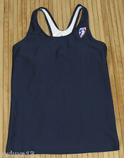 New Womens Adidas WNBA Long Sports Bra Compression Tank Top Dark Navy Blue-M