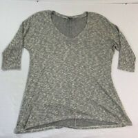 Anthropologie Sparkle And Fade Women Gray Knit Top Sweater Size M
