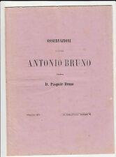 Osservazioni pel Sig. Antonio Bruno contro d. Pasquale Bruno - Spaccaforno 1875
