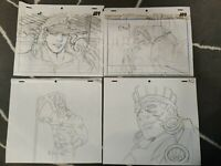 SMILE SET RARE Jojo's Bizarre Adventure Anime Genga for Cel Animation Art Jotaro