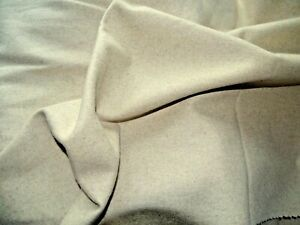 Wool material Superb quality  Pure Wool piece Oatmeal 4m x  65cms (ref W8)