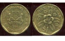 SINGAPORE - SINGAPOURE  1 dollar 1988   ( etat )