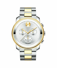 New Movado Bold 3600432 Chrono Silver Dial Two-Tone Stainless Steel Men's Watch