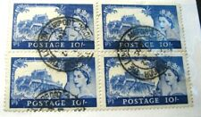 Great Britain Stamp Scott# 311 Windsor, England 1955 Blk of 4 H90