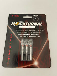 NOCTURNAL RED X LIGHTED NOCKS NT-502 BRAND NEW