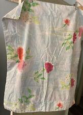 One Baby Blue Cotton Pink Orange Floral Pillow Sham Designers Guild Standard
