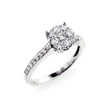Diamant Ring Brillanten 14K 585er Weißgold 0,64 ct Wesselton weiß Neu Zertifikat