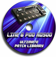 LINE 6 POD HD500 PRE-PROGRAMMED TONE PATCHES CD OVER 4000! - GUITAR EFFECTS