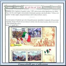 Italia Foglietto Spedizione Mille Varietà RARO PROPOSTA
