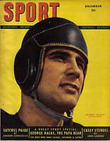 1948 DEC Sport Magazine football, Johnny Lujack, Chicago Bears, George Halas EX