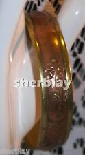 Brass & Copper Bangle Bracelet Flower Design Jewelry