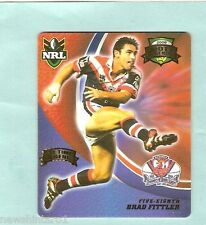 2008  RUGBY LEAGUE  TAZO  #32  BRAD FITTLER,  SYDNEY ROOSTERS