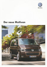 VW Multivan Prospekt 2009 10/09 Autoprospekt brochure broschyr broszura Katalog